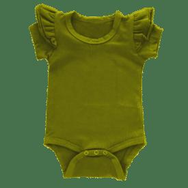 Olive short sleeve fluttersuit
