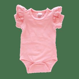 Peachy Pink short sleeve Fluttesuit