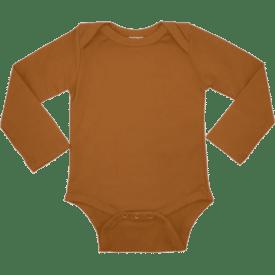 saddle brown long sleeve envelope bodysuit